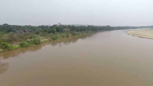 Angola near with Congo Drone Video