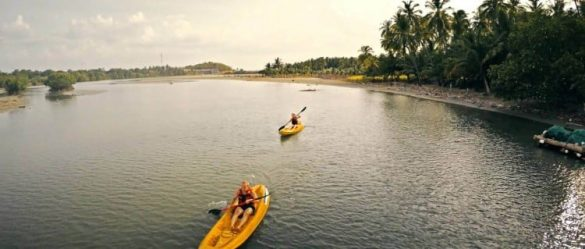 Drone video flying around Sri Lanka
