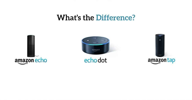 Amazon Echo vs. Echo Dot vs. Tap