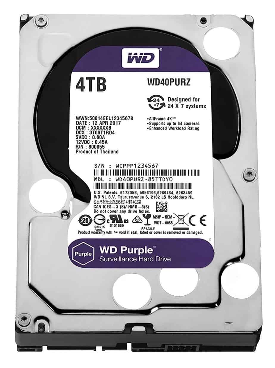 Western Digital Surveillance Camera Hard Disk Drive