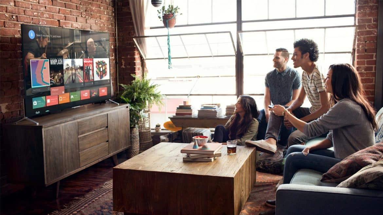 People watching Smart TV