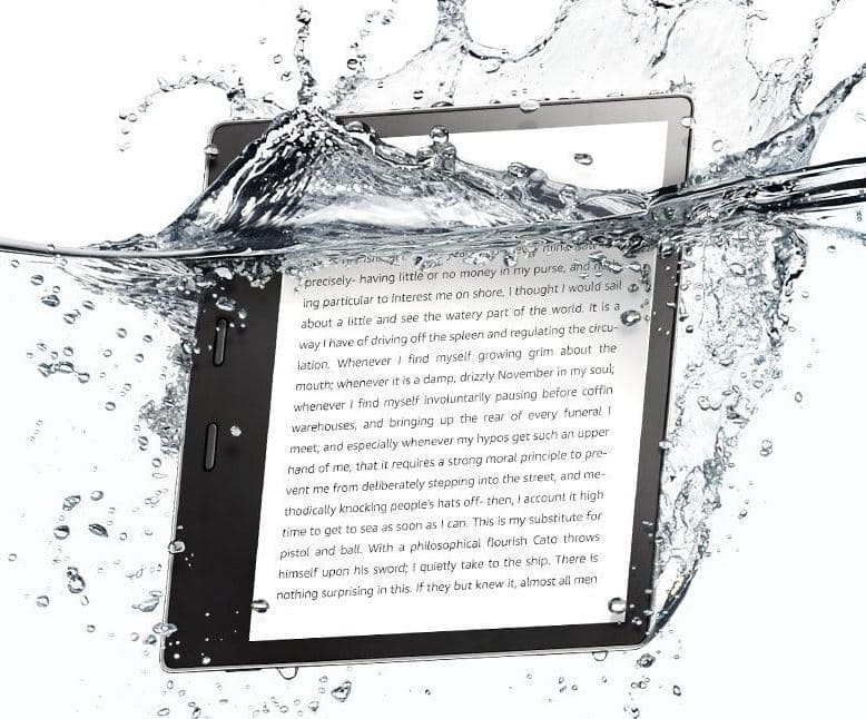 New-Amazon-Kindle-Oasis In Water