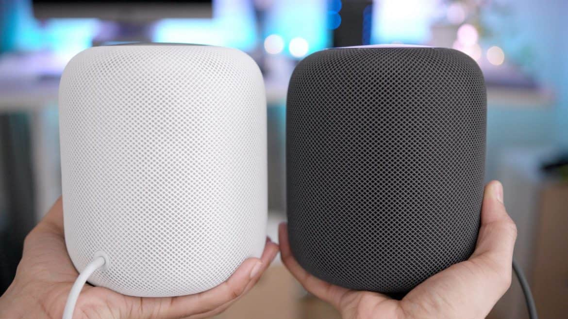Apple HOmePod Held In Two Hands