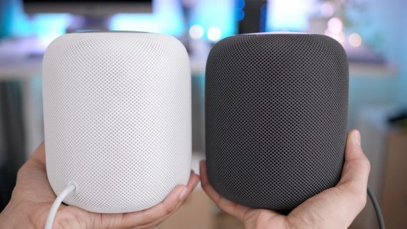 Apple HOmePod Held In Two Hands