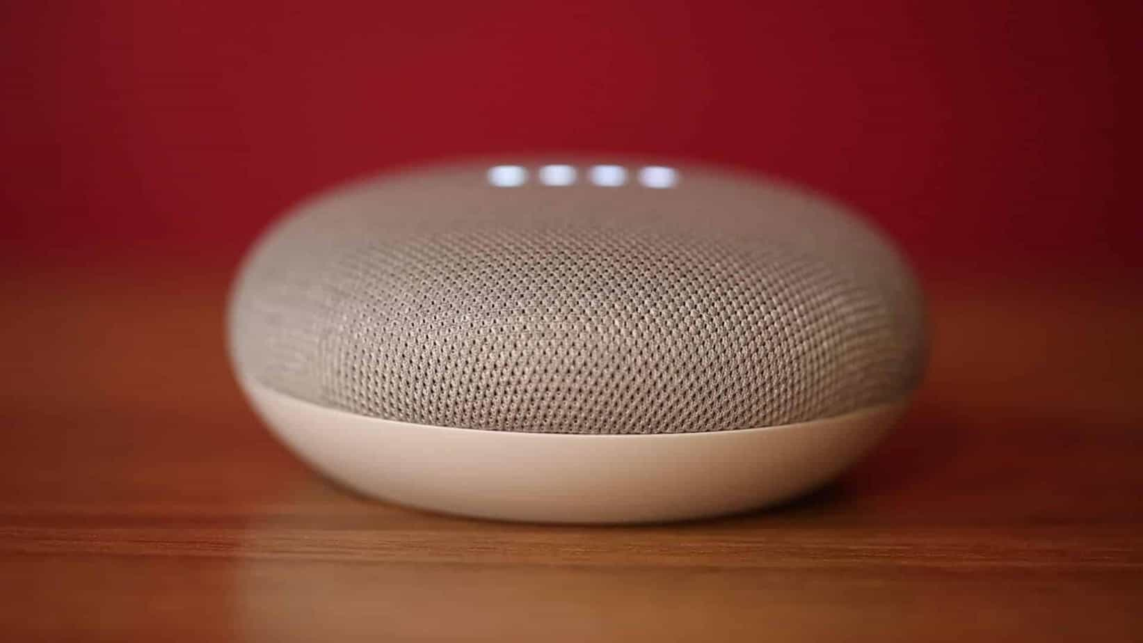 Google Home Mini on A table