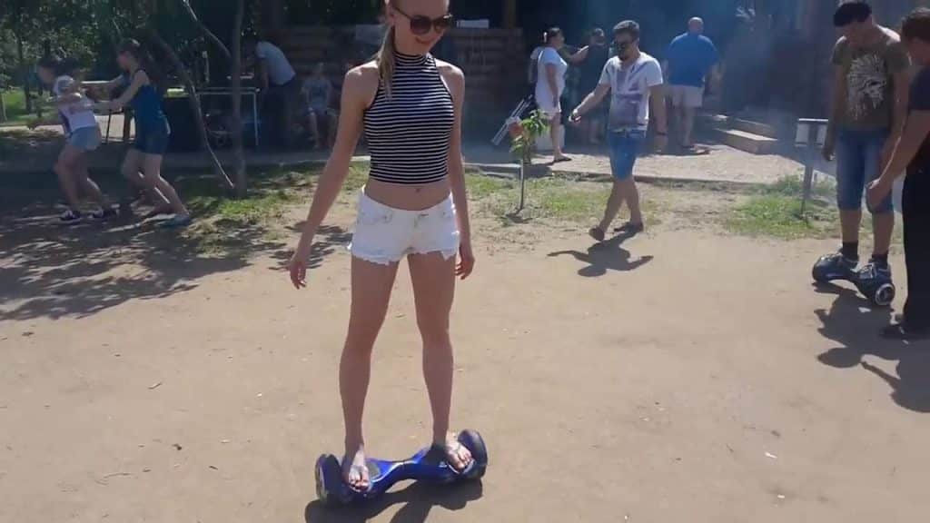 Girl Testing The Right HoverBoard