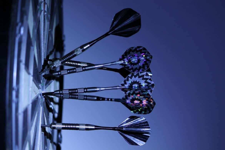 Soft Tip darts On A Board