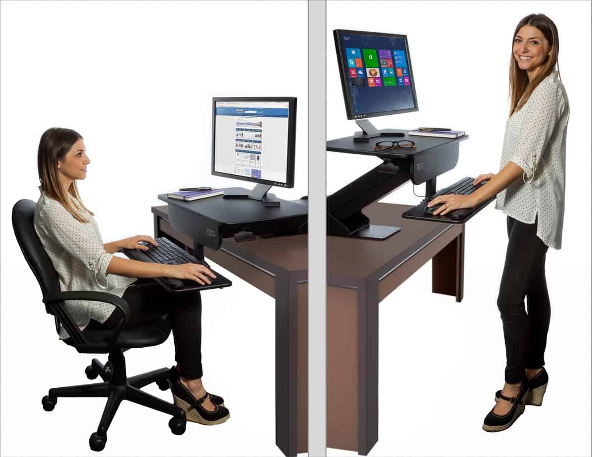 Standing Desk and a Girl