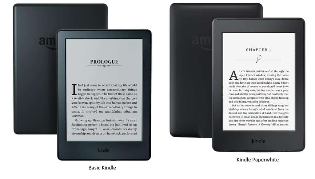 Kindle Paperwhite vs. Kindle E-reader-