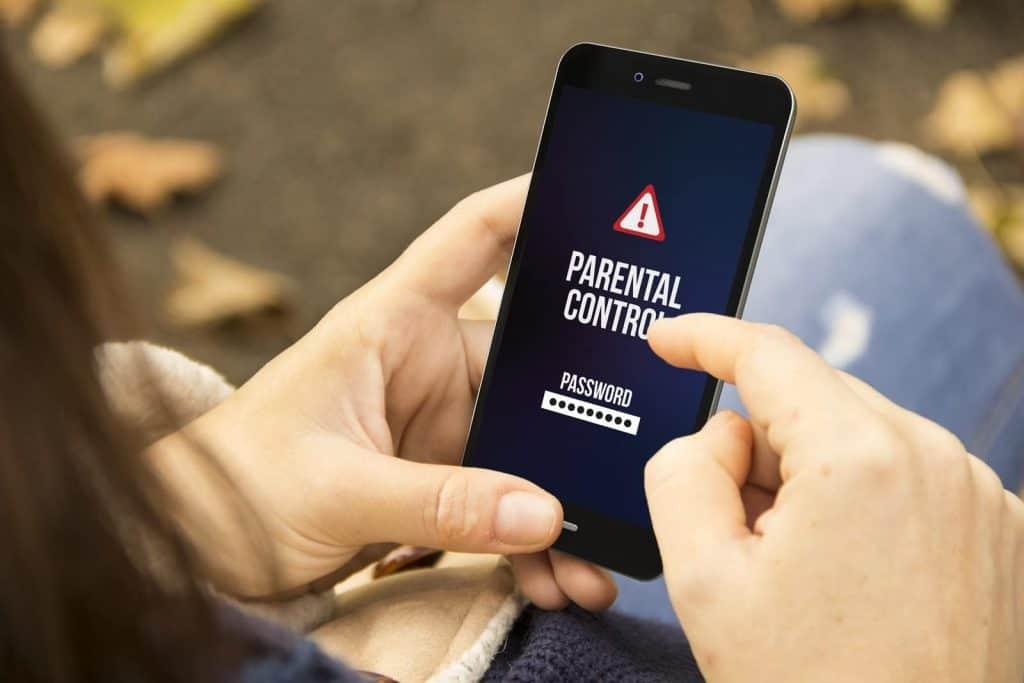 Parent using Parental Control App