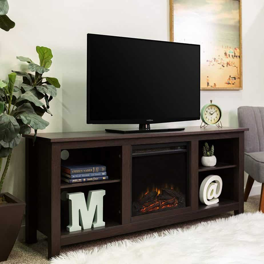 New 58 Inch TV Stand With Fireplace – Made From High-Grade MDF