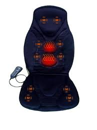 New Five Star FS8812 10-Motor Vibration Massage Seat Cushion with Heat - Neck - Shoulder - Best Back Massager 2017