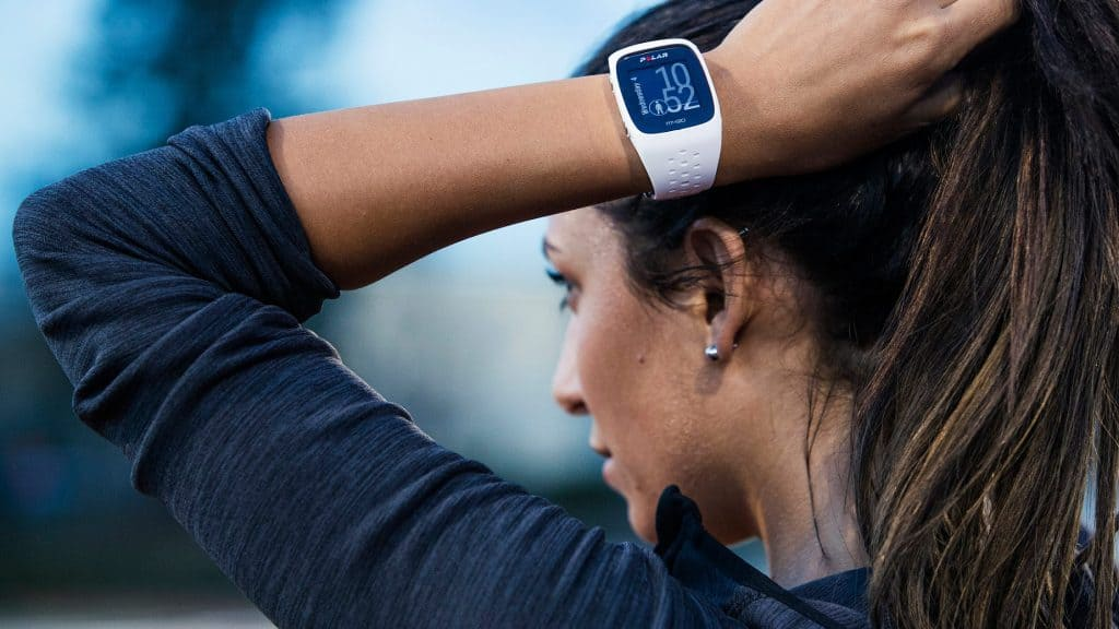 Running Girl With GPS Watch