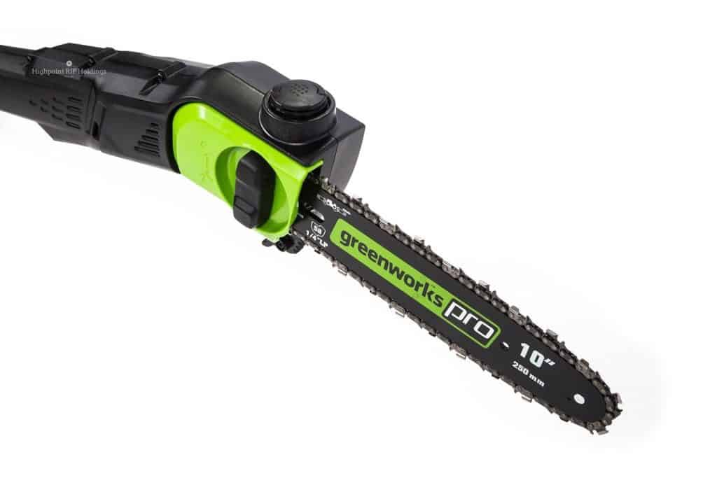 GreenWorks Pro 80V 10-Inch Cordless Pole Saw, Battery Not Included, PS80L00