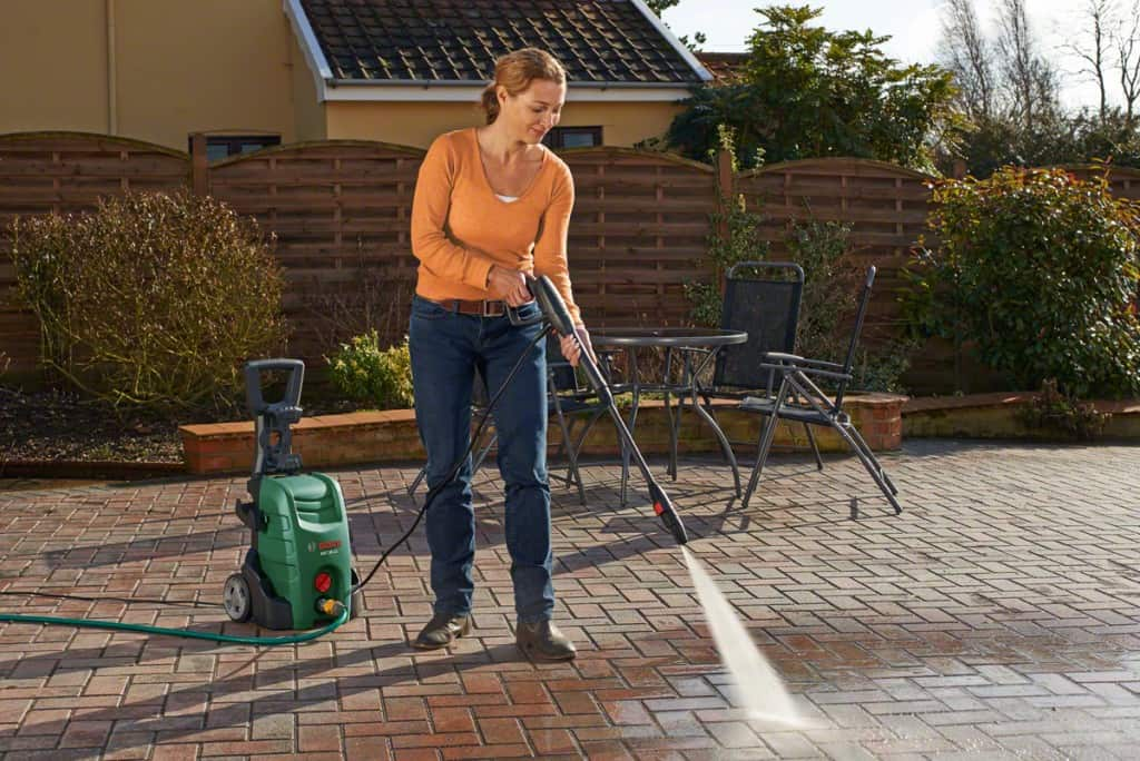 Woman With Affordable Pressure Washer