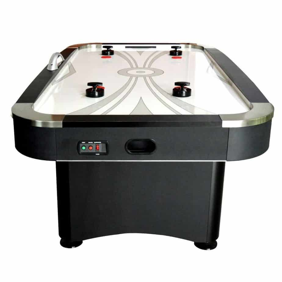 Premium Black 7-ft Air Hockey Chrome Table w/5 Year Warranty from FamilyPoolFun.com