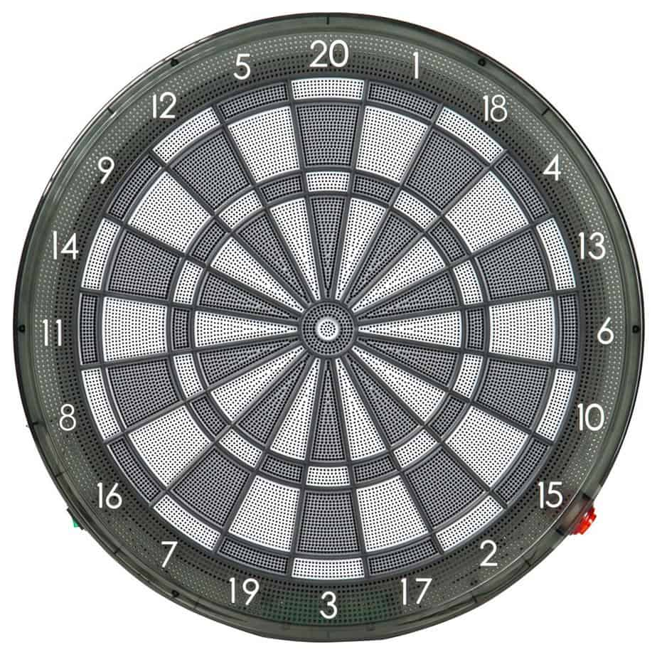 The Darts Factory GUZ Electronic 15.5in Sigma Oreo Professional Dart Board for Single/Multiple Players