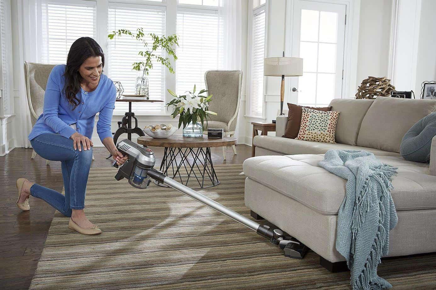 Stick Vacuum Woman