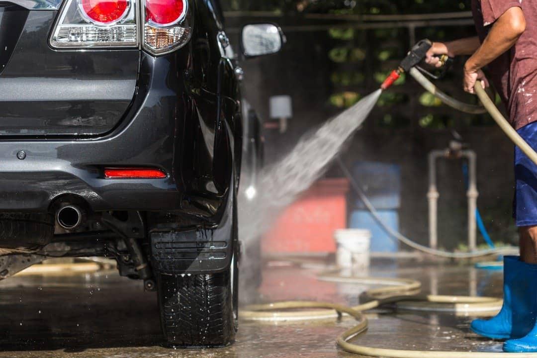 Pressure Washer Top Man spraying Water