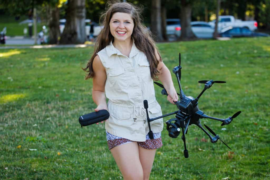 Attractive Girl With A Tricopter
