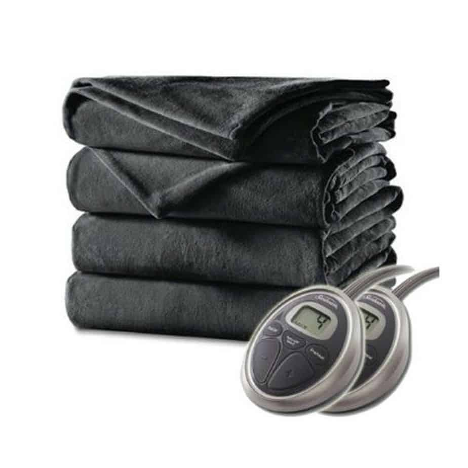 Sunbeam Velvet Plush Heated Blanket, Full Size