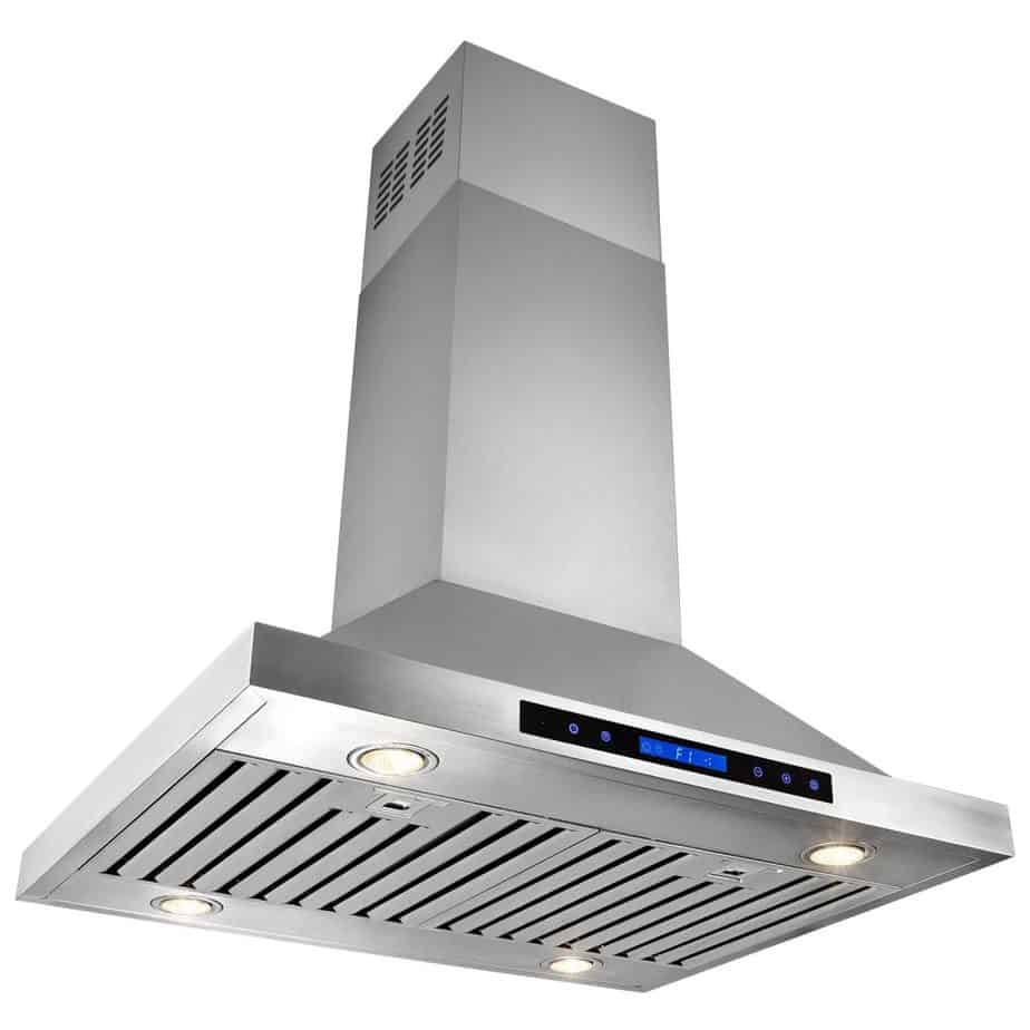 """AKDY® 30"""" Stainless Steel Island Mount Dual LED Both Side Touch Control Panel Kitchen Range Hood w/ Remote AZ-B02-IS-75"""