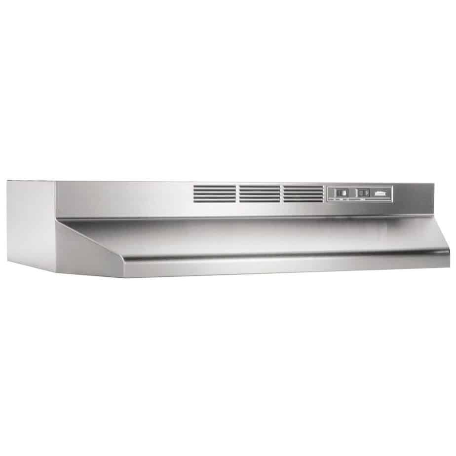 Broan 413604 Ductless Under Cabinet Hood, 36-Inch, Stainless Steel