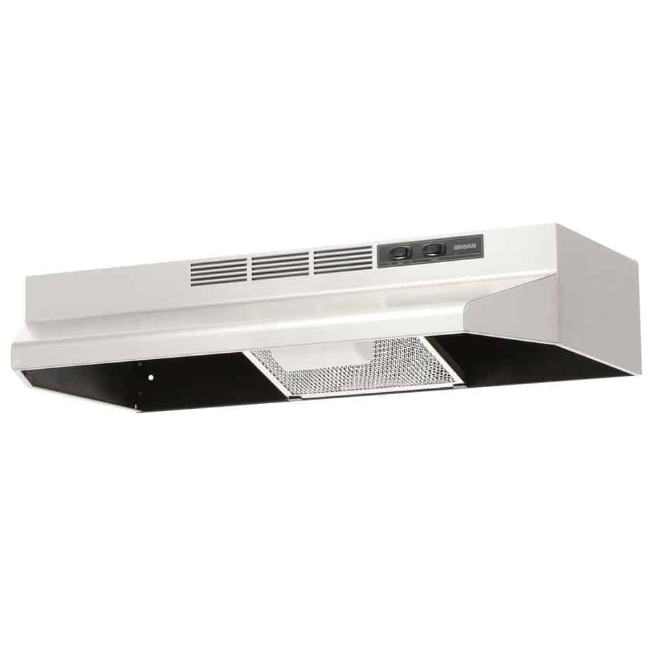 Broan 413004 Economy 30-Inch Two-Speed Ductless Range Hood, Stainless Steel