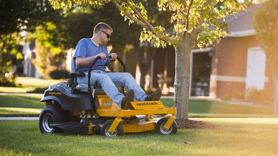 Person With Zero Turn Lawn Mower