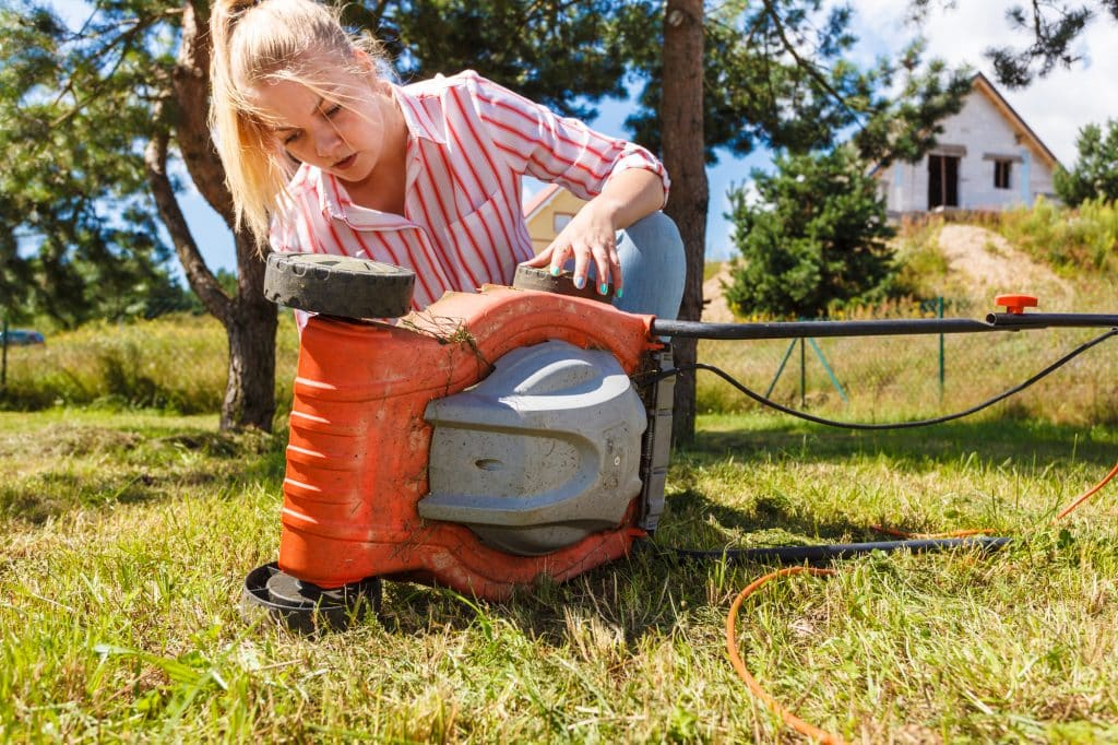 Girl Check Electric Mower