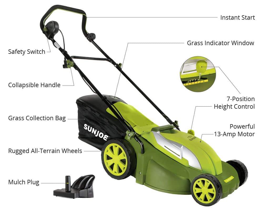 Sun Joe MJ403E Electric Lawn Mower