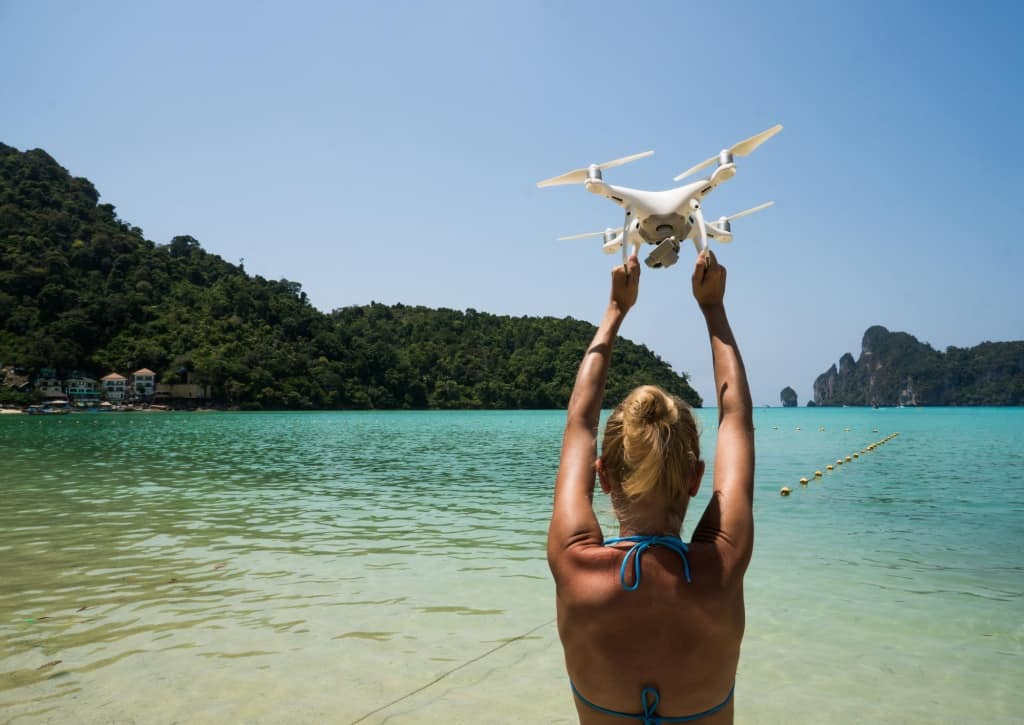 Drone in Womans Hands