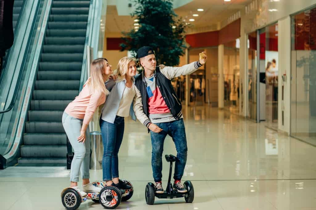 Three College Kids On HoverBoard