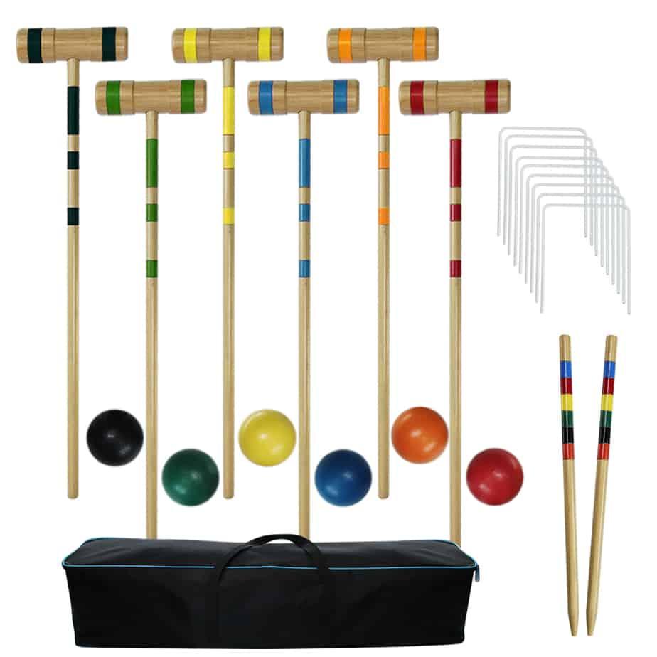 Juegoal Six Player Croquet Set