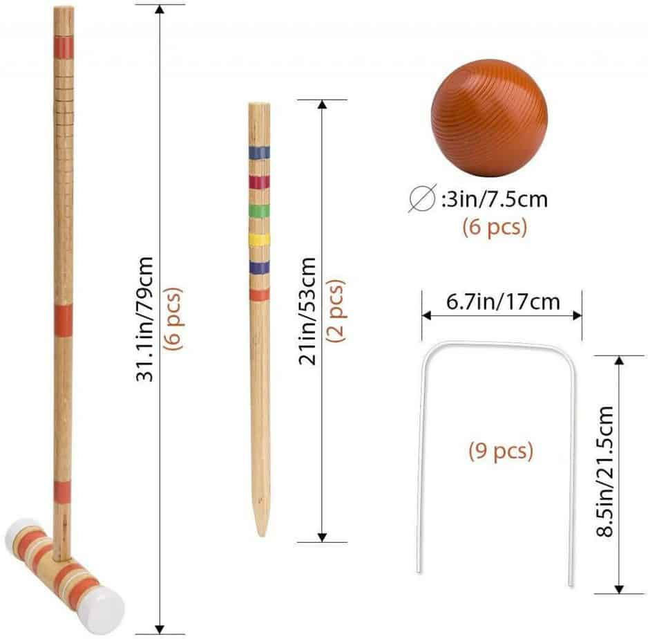 ROPODA Six-Player Croquet Set