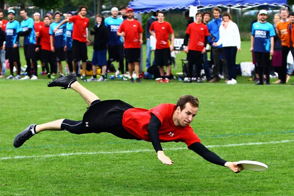 Frisbee Player Jumping