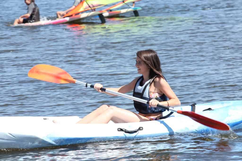 Kayak Cart With A Girl