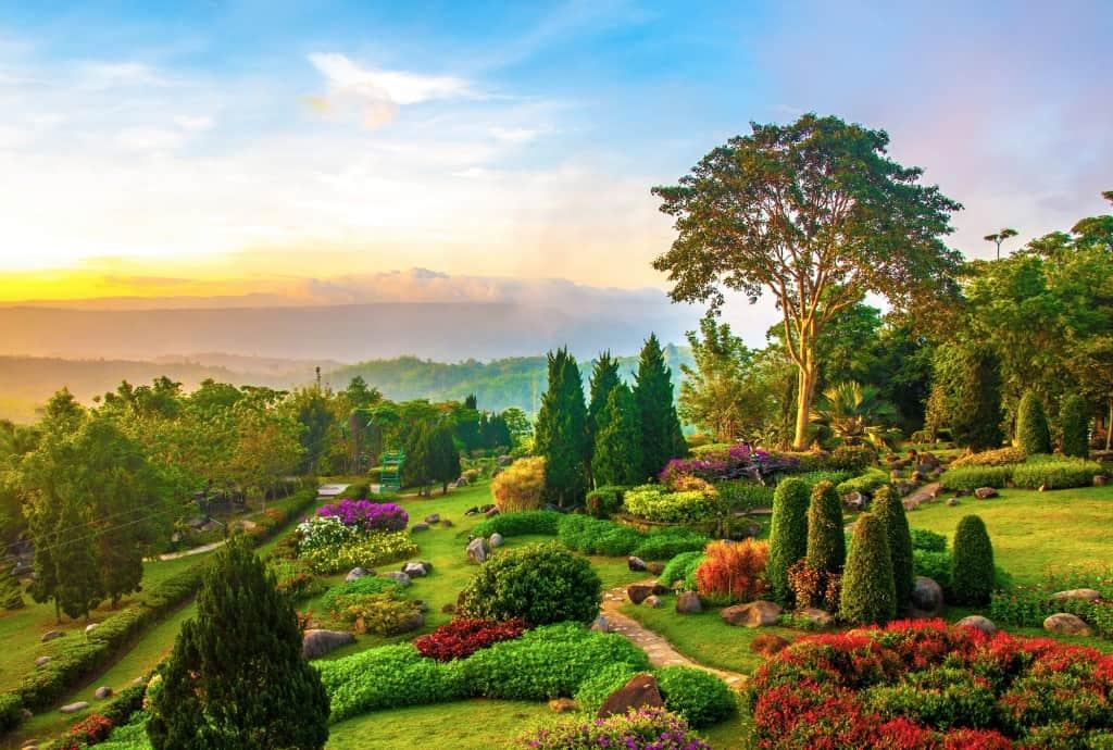 Beautifully Manicured Garden