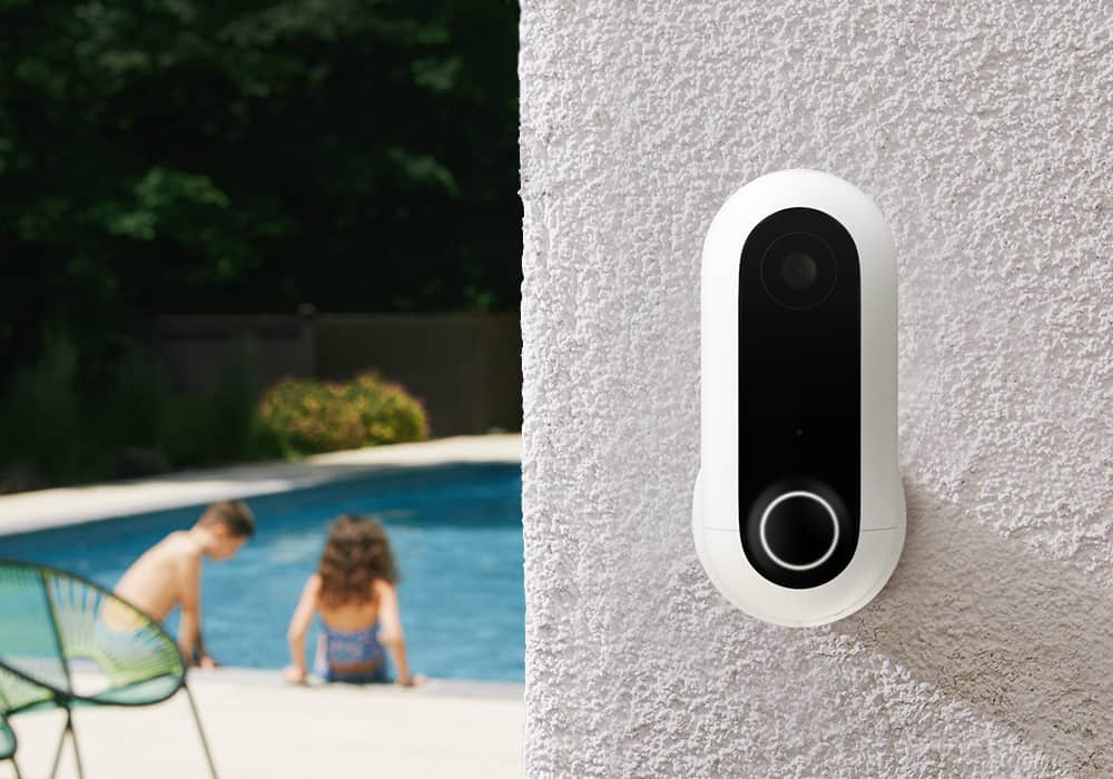 security camera monitoring kids in the garden