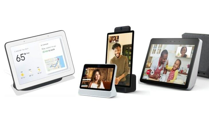 Google-Home-Hub-Facebook-Portal-Amazon-Echo-Show