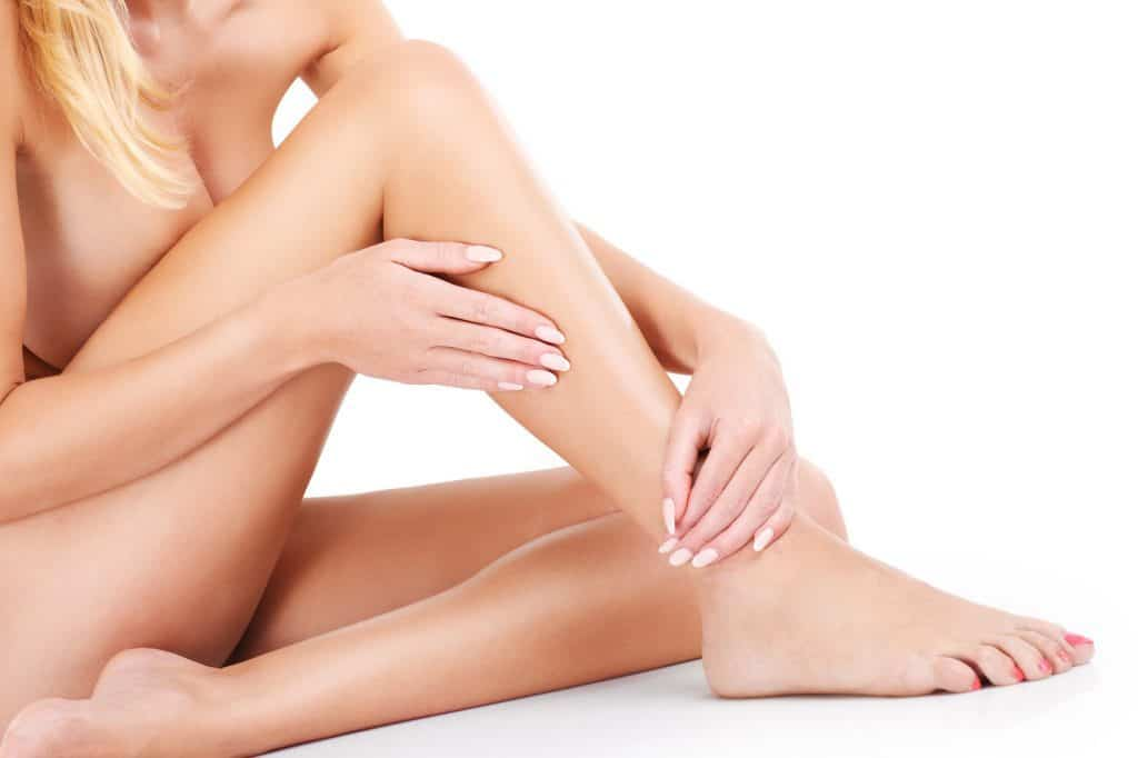 Legs after using permanent hair removal