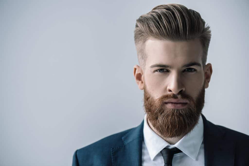 stylish man with groomed beard