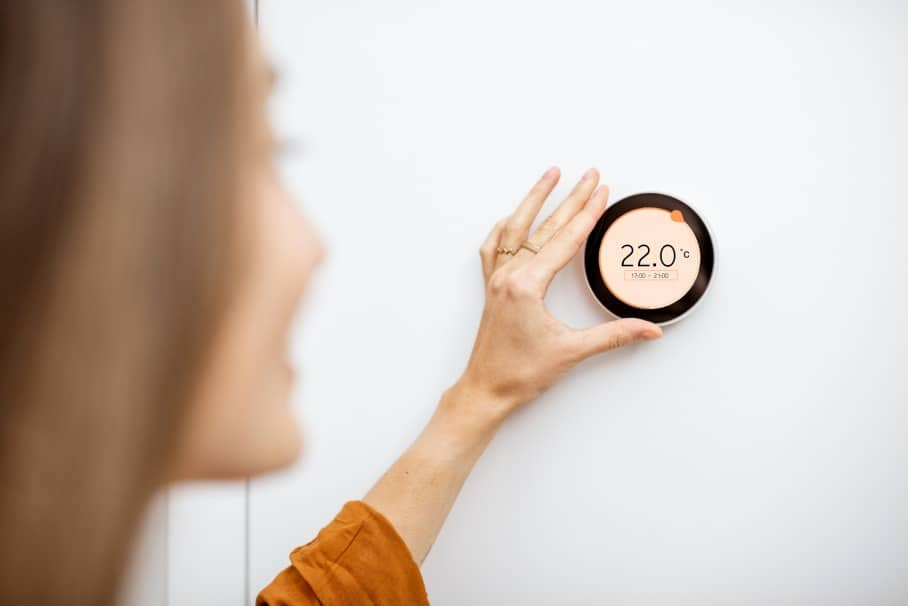 install a thermostat on wall
