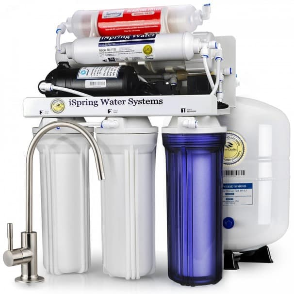 iSpring RCC7P-AK Boosted Performance Under Sink 6-Stage Reverse Osmosis Drinking Filtration System