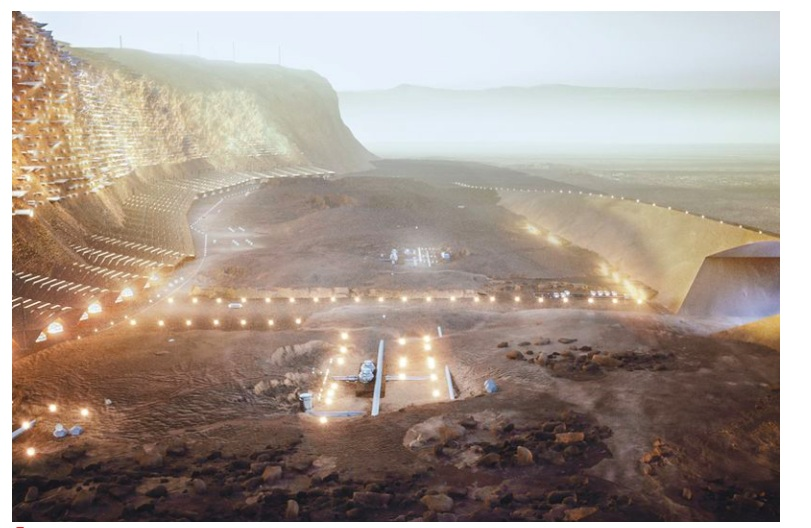 The First mars settlement planned for 2054